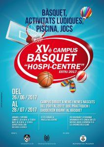 """XVè campus de Bàsquet """"Hospi-Centre"""" – Estiu 2017"""